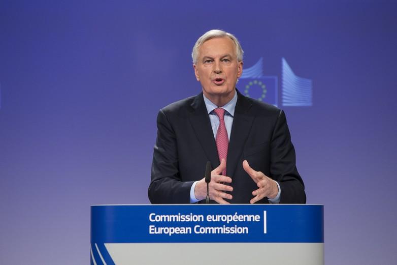 Michel Barnier lors de la conférence de presse le 28 février
