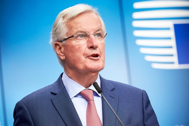 Michel Barnier lors de la conférence de presse du 30 janvier