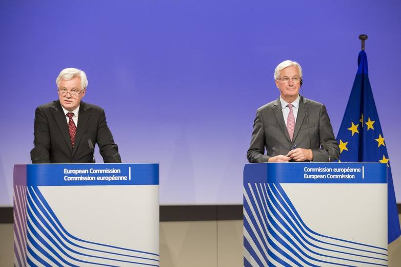 David Davis et Michel Barnier