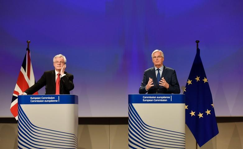 David Davis et Michel Barnier le 12 octobre 2017
