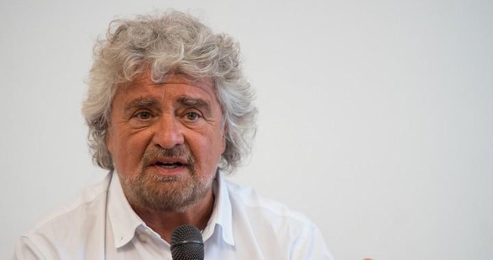 Beppe Grillo, leader du M5S, en mai 2016