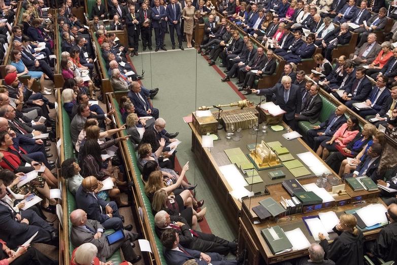 Boris Johnson durant son discours à la Chambre des communes, mercredi 4 septembre - Crédits : UK Parliament / Flickr