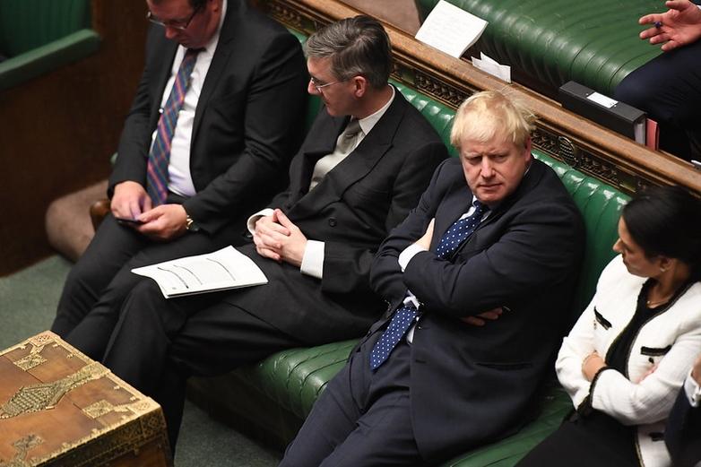 Boris Johnson, lors de l'ouverture du Parlement britannique, le 14 octobre 2019 - Crédits : Jessica Taylor / Flickr UK Parliament CC BY-NC 2.0