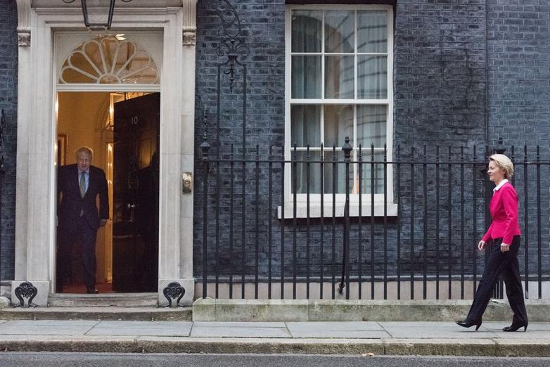 A Londres, Boris Johnson et Ursula von der Leyen lancent la bataille de l'après-Brexit