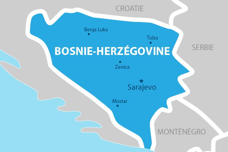 Carte Bosnie Herzégovine