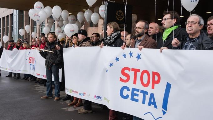 Manifestation d'opposition au CETA