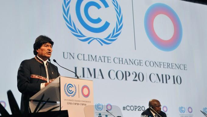 Evo Morales à la COP 20 de Lima