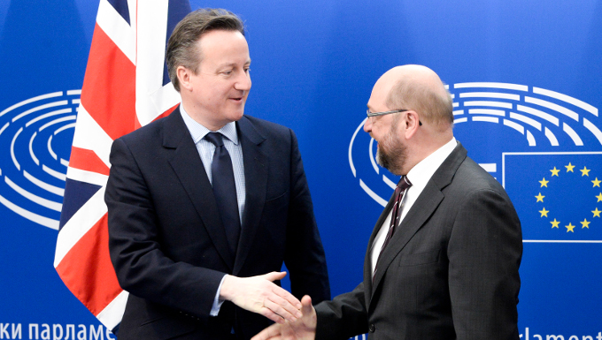 Martin Schulz et David Cameron © Parlement européen