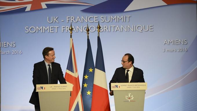 David Cameron et François Hollande à Amiens le 3 mars 2016
