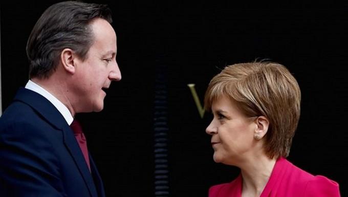 David Cameron et Nicola Sturgeon, le 15 mai