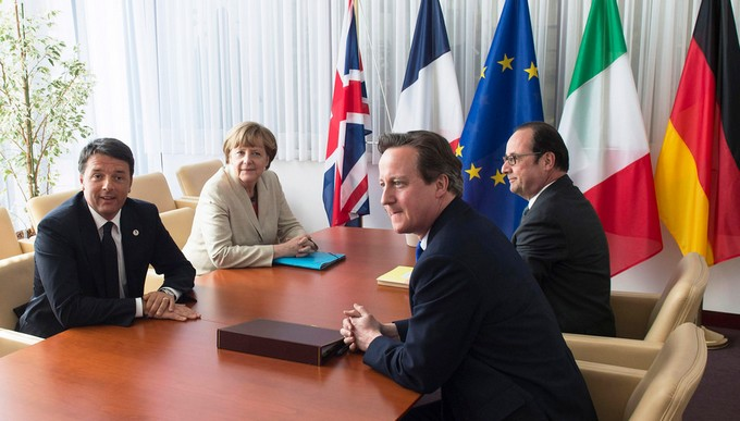 Renzi Merkel Hollande Cameron