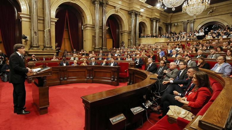 carles puigdemont catalogne discours indépendance parlement generalitat