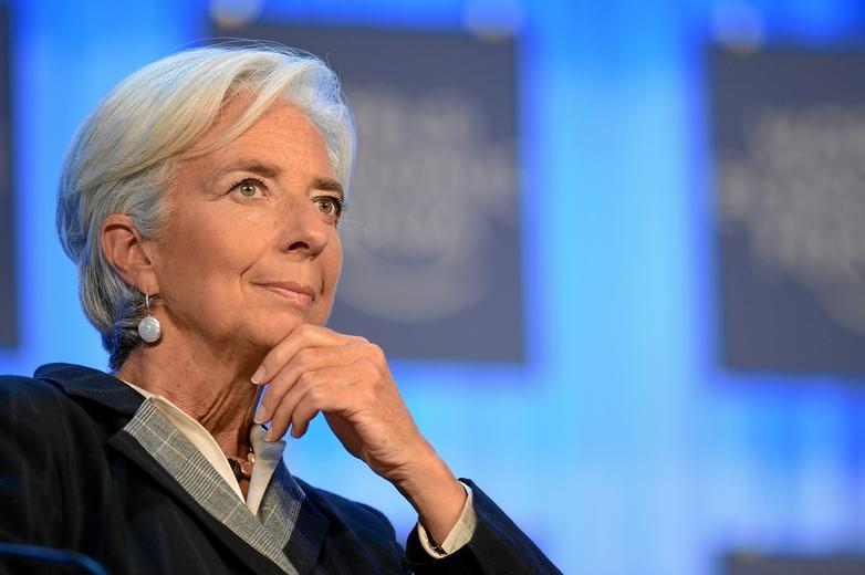 Christine Lagarde, alors directrice générale du FMI, lors du Forum économique mondial 2013 de Davos, en Suisse - Crédits : Michael Wuertenberg / Flickr CC BY-NC-SA 2.0