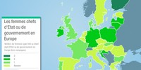 Carte comparative : Les femmes chefs d'Etat ou de gouvernement en Europe