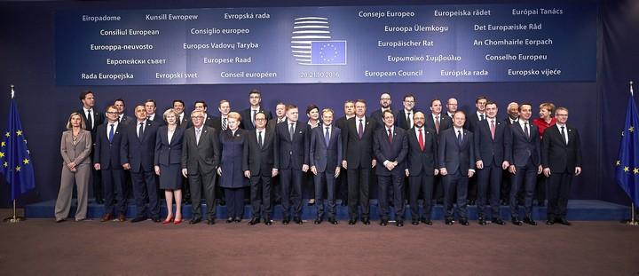Conseil européen d'octobre 2016 : photo de famille