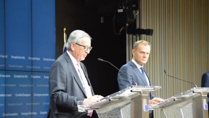 Jean-Claude Juncker et Donald Tusk