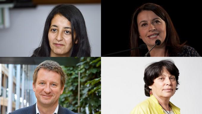De gauche à droite et de haut en bas : Karima Delli, Cécile Duflot, Yannick Jadot et Michèle Rivasi