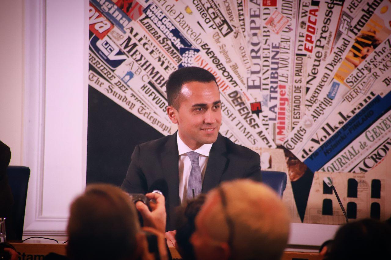 Luigi Di Maio, dirigeant du Mouvement 5 étoiles.