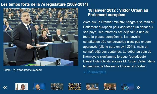 Diaporama temps forts de la 7e législature du Parlement européen