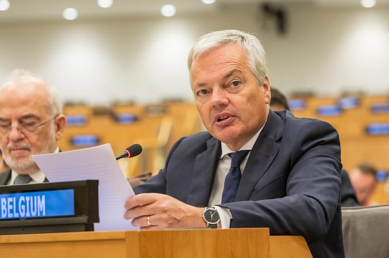Didier Reynders à une réunion du Traité d'interdiction complète des essais nucléaires, en septembre 2018 - Crédits : The Official CTBTO Photostream / iStock