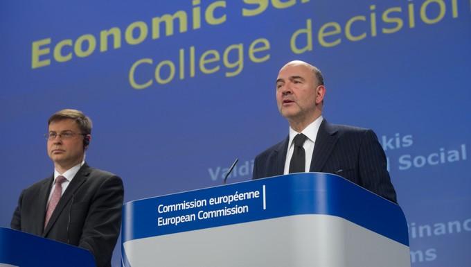 Valdis Dombrovskis et Pierre Moscovici