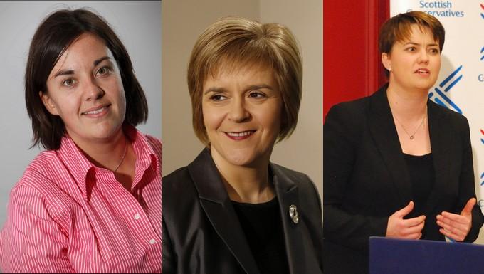 De gauche à droite : Kezia Dugdale, Nicola Sturgeon et Ruth Davidson