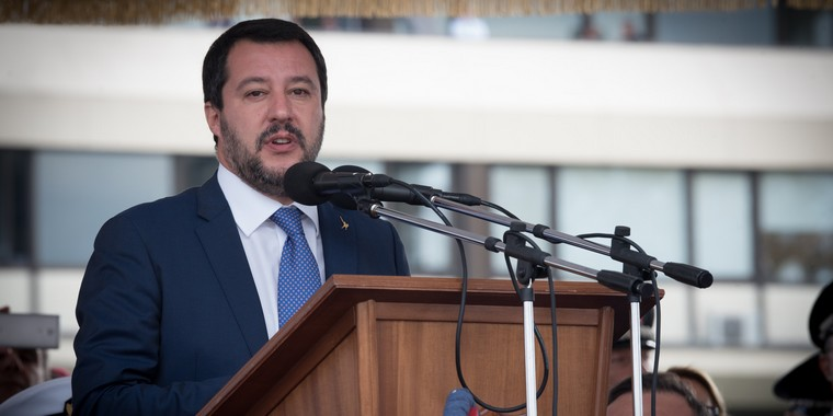 Matteo Salvini, vice-Premier ministre italien (extrême droite) en octobre 2018 - Crédits : ministère de la Défense italien