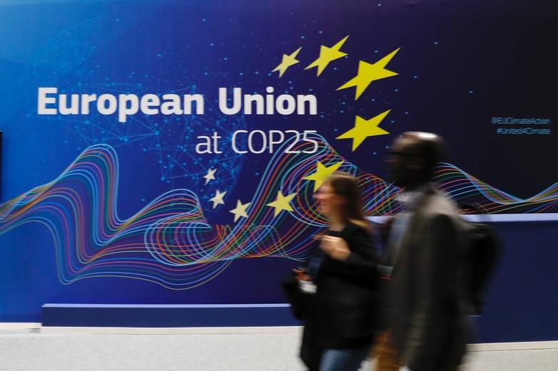 L'Union européenne tente de s'affirmer en pionnière mondiale de la lutte climatique, comme ici à la COP25 - Crédits : Union européenne