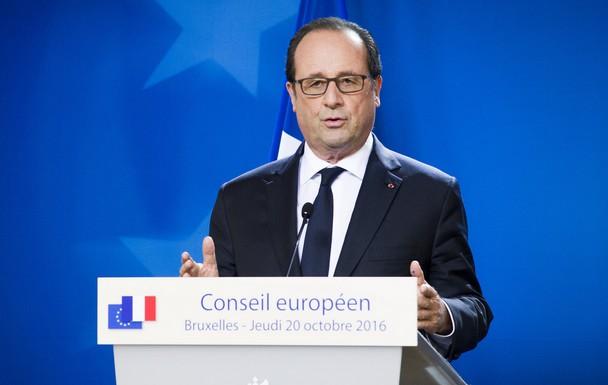 François Hollande lors du Conseil européen d'octobre 2016
