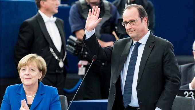 François Hollande, le 7 octobre 2015, avec Angela Merkel