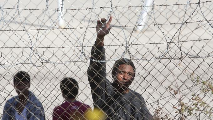Un immigrant au centre de détention de Filakio, un villageprès d'Orestiada, à 900 kms au Nord d'Athènes, le 17 octobre 2012 (c) Parlement européen