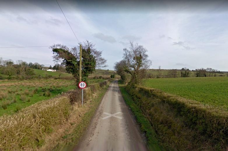 Altadaven road, Comté de Monaghan. Sur cette route passe la frontière théorique entre la république d'Irlande et l'Irlande du Nord. En cas de no deal, elle devra être physiquement rétablie. - Crédits : Google Street View