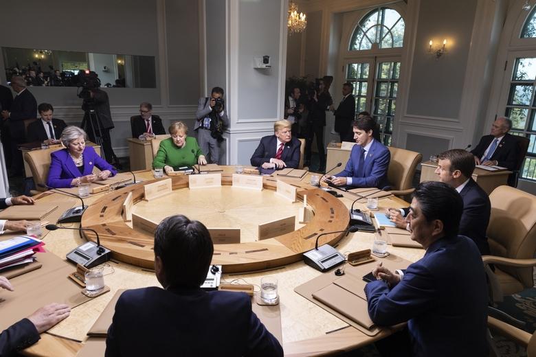 Les dirigeants des pays membres du G7