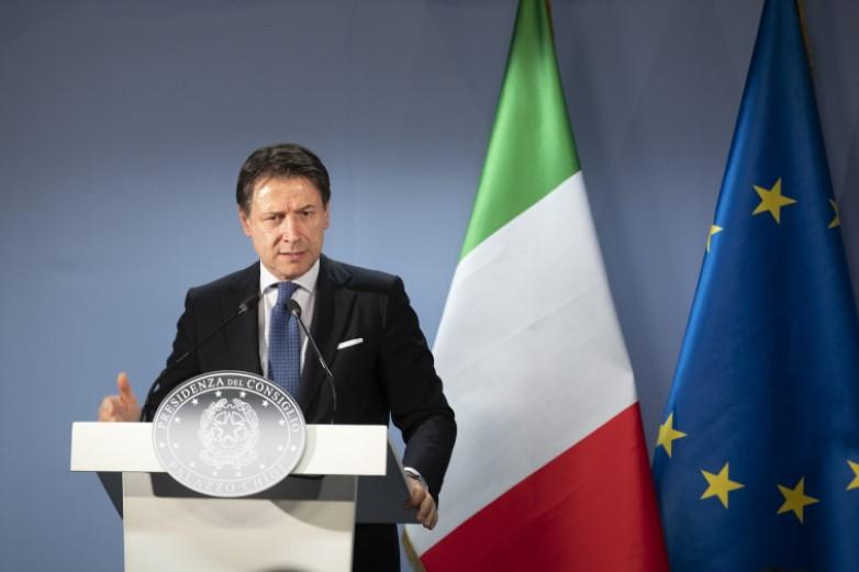 Le président du Conseil italien, Giuseppe Conte, a appelé la population à la responsabilité pour éviter une seconde vague de contamination une fois les mesures de confinement levées - Crédits : Conseil de l'UE