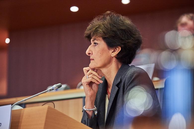 Sylvie Goulard, le 10 octobre 2019, lors de sa seconde audition face aux eurodéputés - Crédits : Mauro Bottaro / Commission européenne
