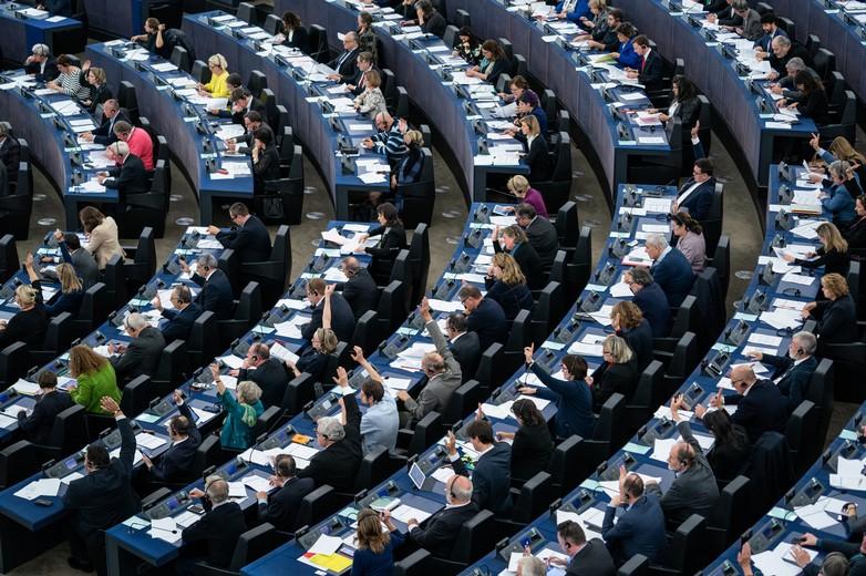 Session de votes au Parlement européen de Strasbourg
