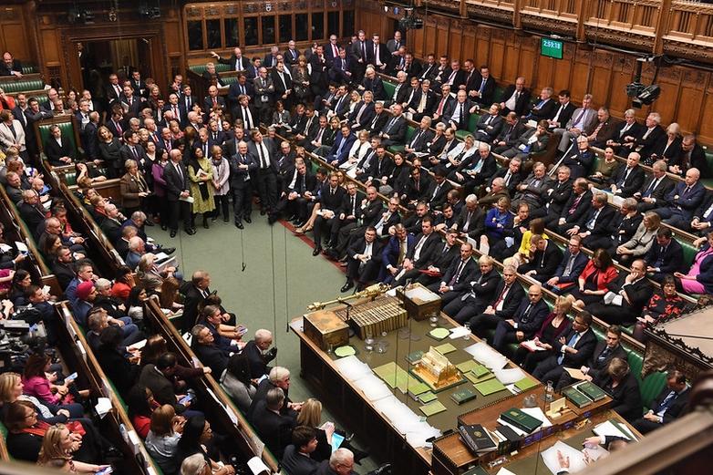 La Chambre des communes, lors du premier débat sur l'accord de retrait de Boris Johnson, samedi 19 octobre - Crédits : Jessica Taylor / Flickr UK Parliament CC BY-NC 2.0