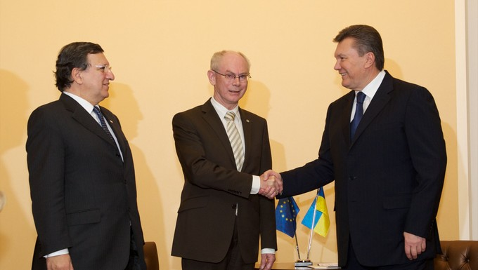 Ianoukovitch- Rompuy-Barroso