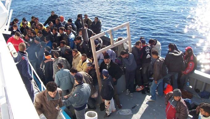 Migrants à Lampedusa