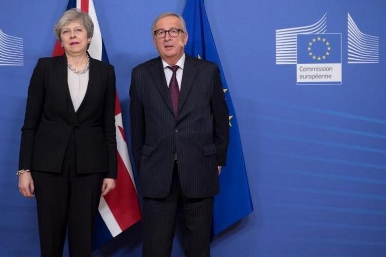 Theresa May et Jean-Claude Juncker à la Commission européenne le 20 février 2019  - Crédits : Etienne Ansotte / Commission européenne