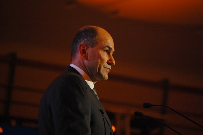 Janez Janša, chef du parti démocrate slovène
