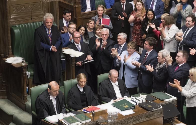 Le speaker John Bercow, lors de l'annonce de sa démission à la Chambre des communes, lundi 9 septembre - Crédits : UK Parliament / Flickr