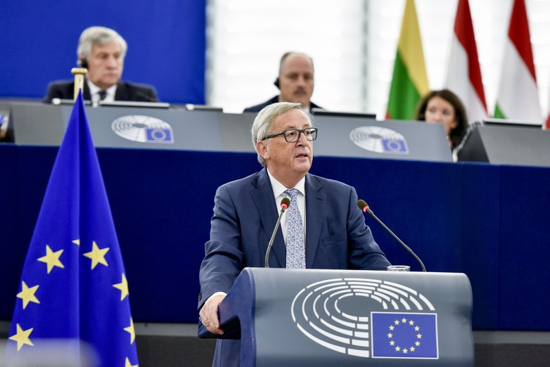 Jean-Claude Juncker lors du discours sur l'état de l'Union