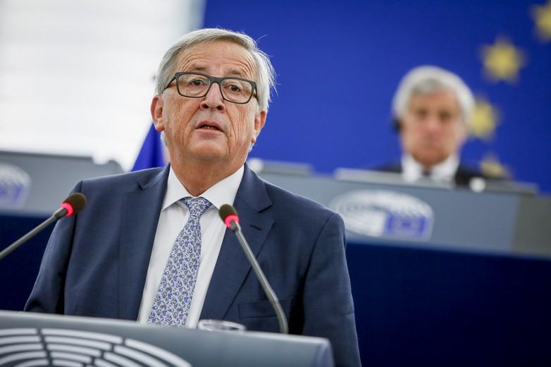 Jean-Claude Juncker au Parlement européen le 13 septembre 2017 pour son discours sur l'état de l'Union