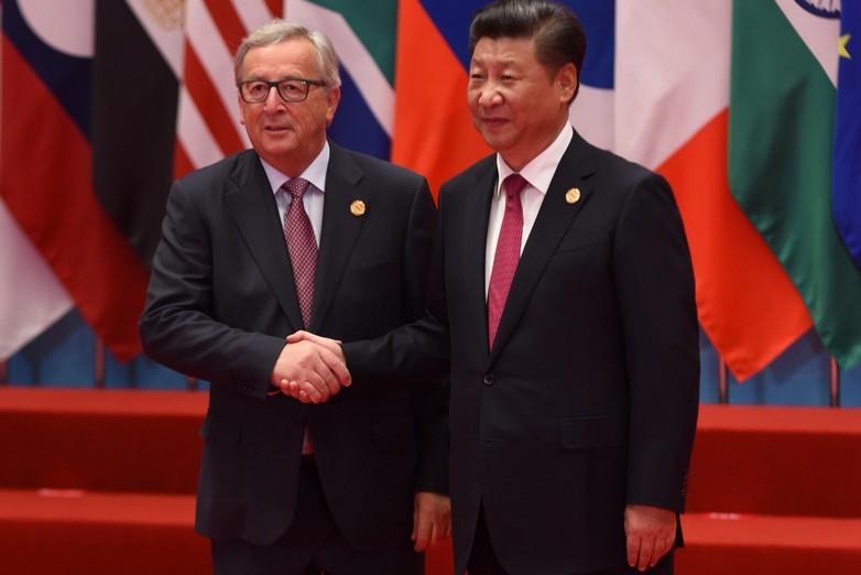 Jean-Claude Juncker et Xi Jinping