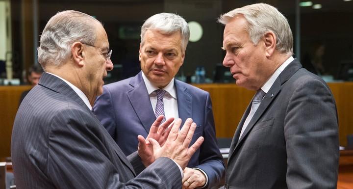 Ayrault, Kasoulides, Reynders