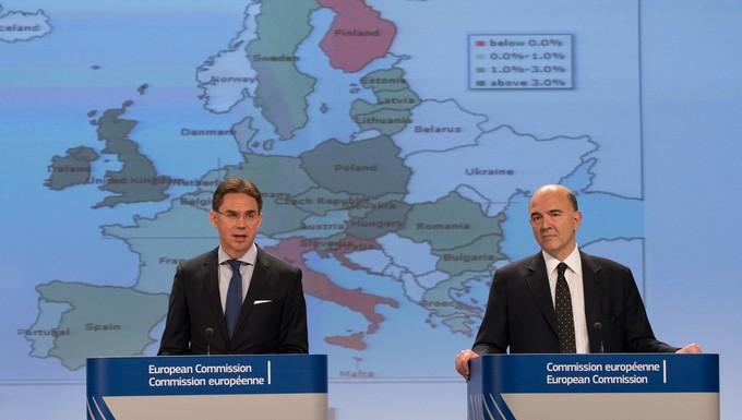 Jyrki Katainen et Pierre Moscovici