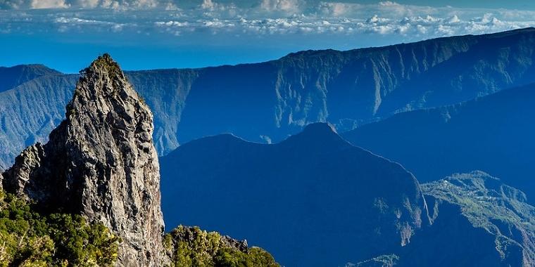 Ile de la Réunion : vue sur le cirque de Mafate