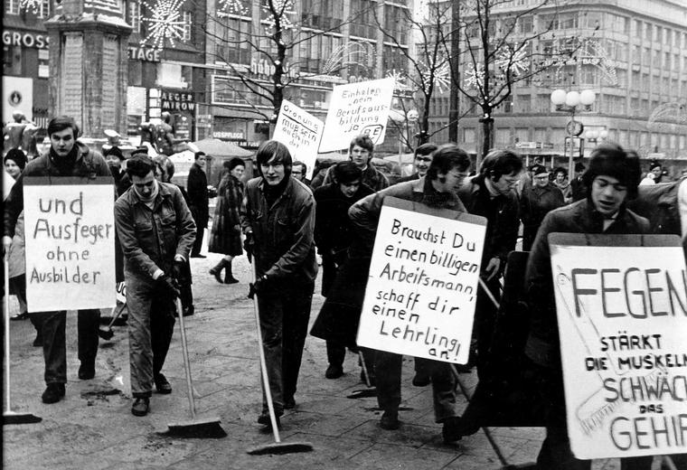 Manifestation d'apprentis à Hambourg, 1968