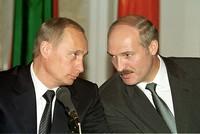 Vladimir Poutine et Alexandre Loukachenko, en 2002